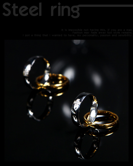 71164 2중 크로스 링 (Gold & Silver)