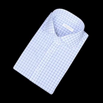 82759 No.18-a 프리미엄 윈도페인 체크 셔츠 (Sky Blue)