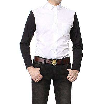 82451 퀄리티 배색 포인트 셔츠 (2color)