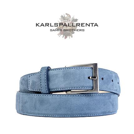 -K.S- 84308 italy ramd sikn 스웨이드 클래식 벨트 (Blue)