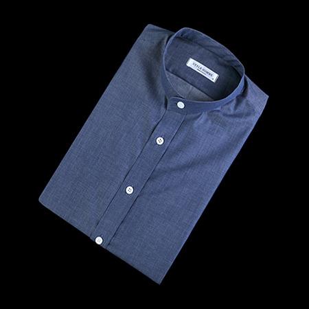 84883 No.32-A 프리미엄 베이직 차이나 1/2 셔츠 (Navy)