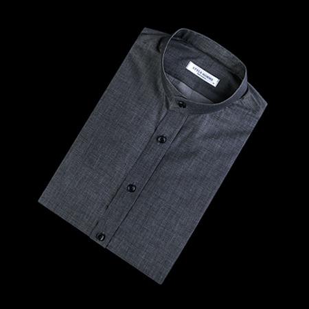 84884 No.32-A 프리미엄 베이직 차이나 1/2 셔츠 (Dark Gray)