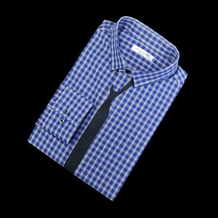 84068 프리미엄 체크 타이 셔츠 (Blue)