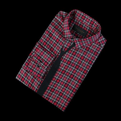 85993 프리미엄 듀크 체크 슬림타이 셔츠 (Red)