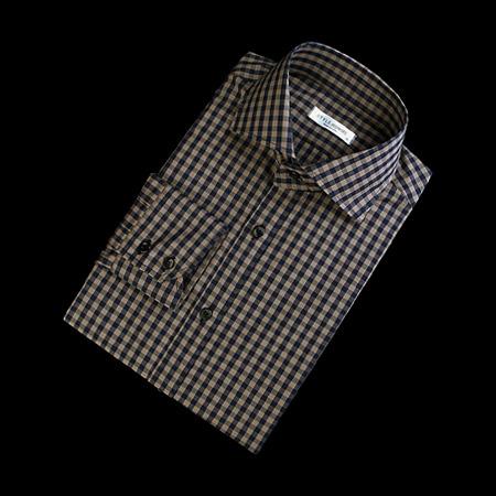 86384 No.42-a 프리미엄 깅엄 체크 셔츠 (Beige)