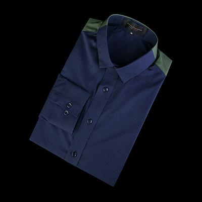 86245 프리미엄 어깨 배색 셔츠 (2Color)