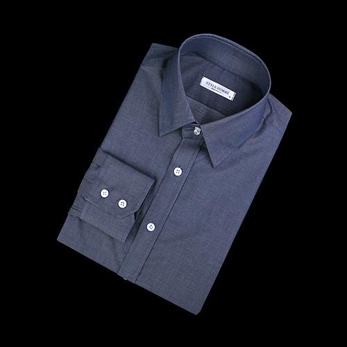 87400 No.54-a 프리미엄 솔리드 셔츠 (Navy)
