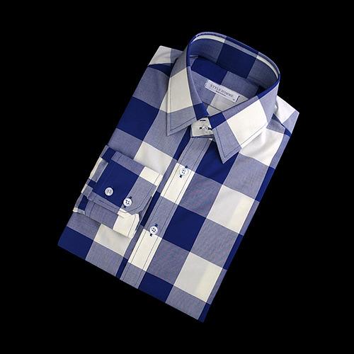87407 No.56-a 빅 깅엄체크 셔츠 (Blue)