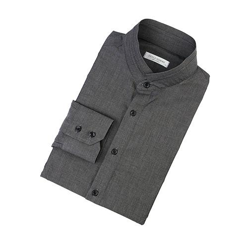 87578 No.60-a 솔리드 차이나 셔츠 (Dark Gray)