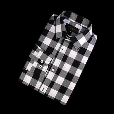 87311 깅엄 체크 셔츠 (Black)