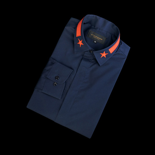 87702 GI 스타 카라 셔츠 (Navy)