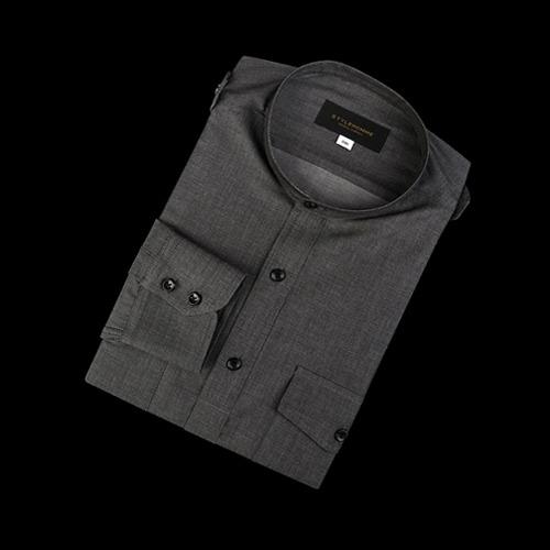 88898 No.74-A 솔리드 차이나 견장 셔츠 (Gray)