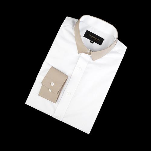 88454 카라배색 셔츠 (White)