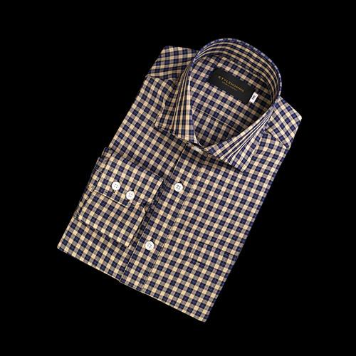 89045 No.85-A 프리미엄 체크 셔츠 (Beige)