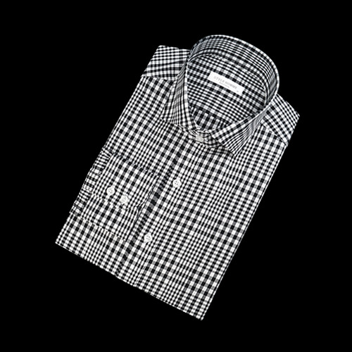 89125 No.87-A 깅엄체크 셔츠 (Black)