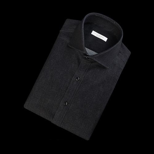 89732 No.92-A 데님 셔츠 (Dark Gray)