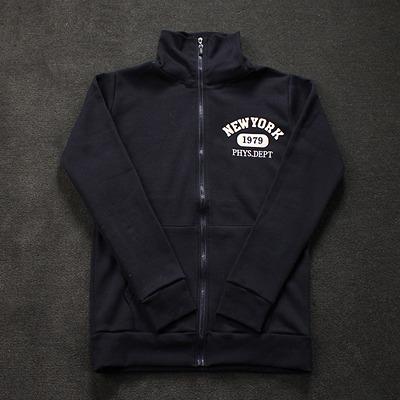 89710 입체영문패치 하이넥 집업 티셔츠 (Navy)