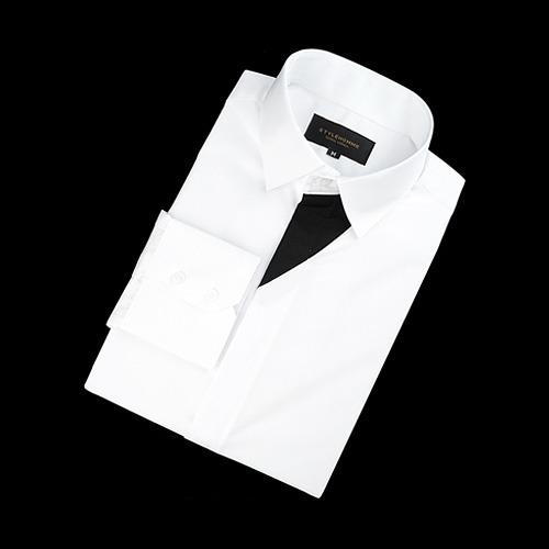 89611 플래킷 배색 셔츠 (2Color)