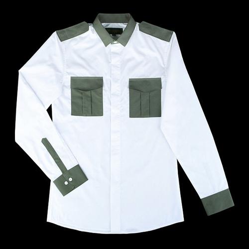 86690 VA 배색포켓 셔츠 (Khaki)