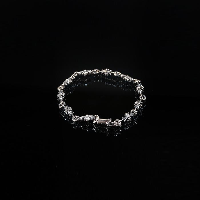 92736 크로스체인 클립 팔찌 (Silver)