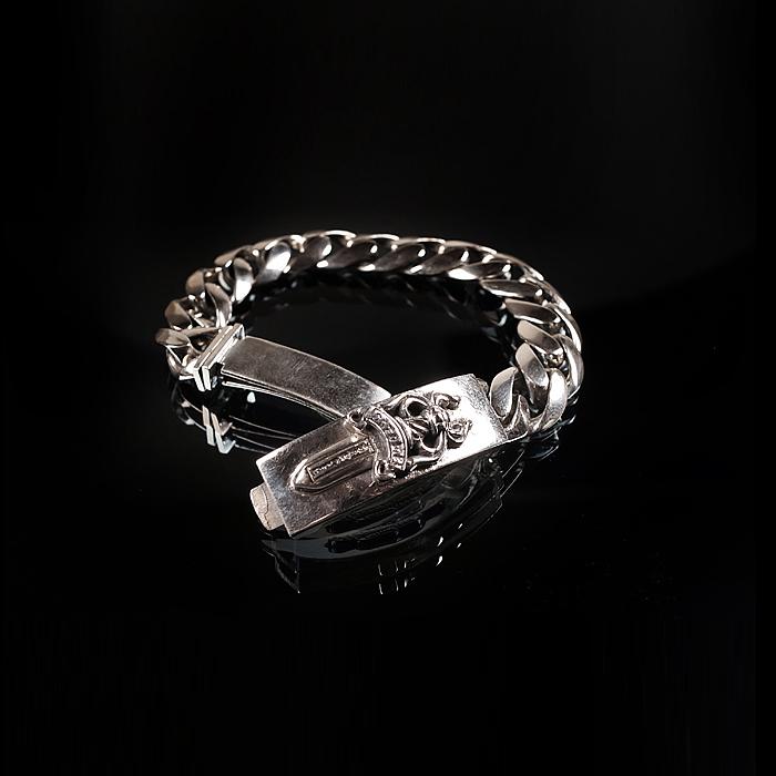 92739 CH 엔틱 나이프 자이언트 체인 팔찌 (Silver)