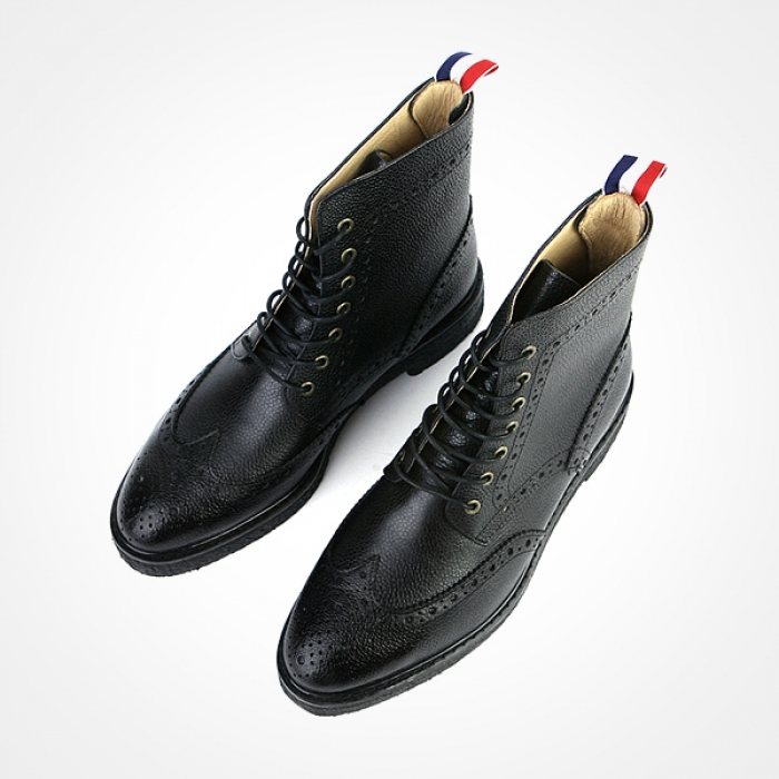 86114 TH 지퍼라인 프리미엄 슈즈 (Black)
