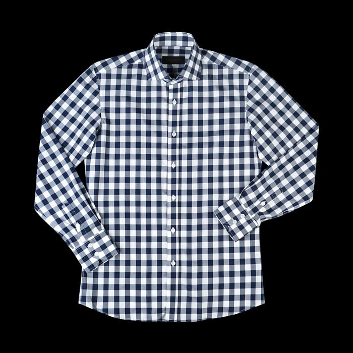 94682 No.25-B 깅엄 체크 셔츠 (Navy)
