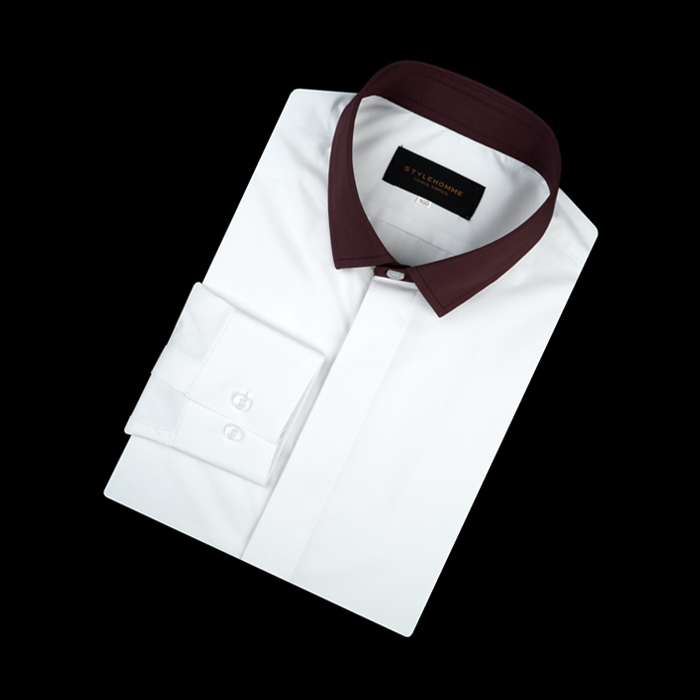 94771 No.29-B 프리미엄 배색카라 셔츠 (2Color)