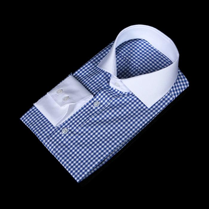 75039 프리미엄 쿨 체크 패턴 셔츠 (Blue)