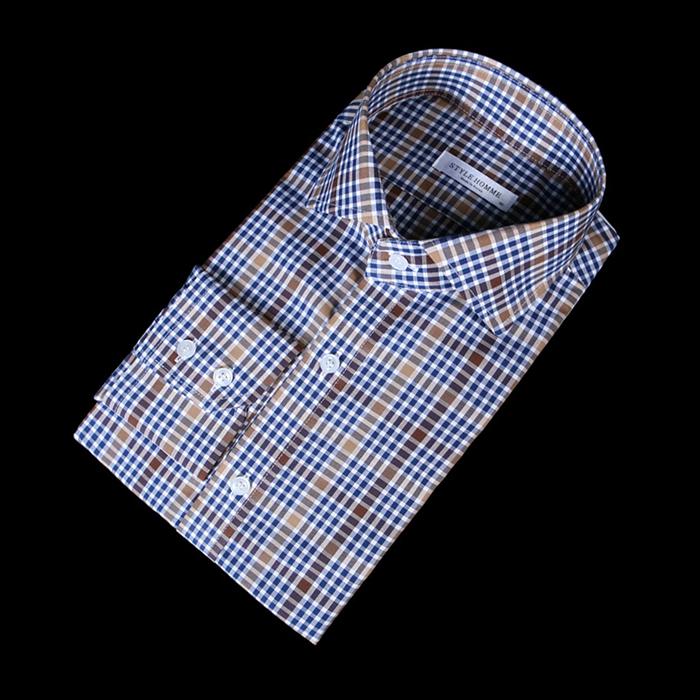 76131 프리미엄 글렌 체크 패턴 셔츠 (2Color)