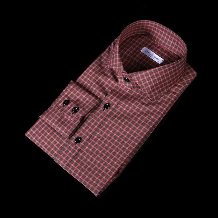 76137 No.51 프리미엄 윈도우 페인 체크 패턴 셔츠 (Brown)