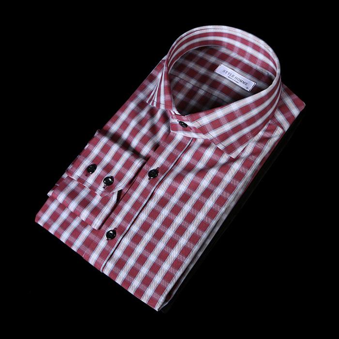 76139 프리미엄 옹브레 체크 패턴 셔츠 (2Color)