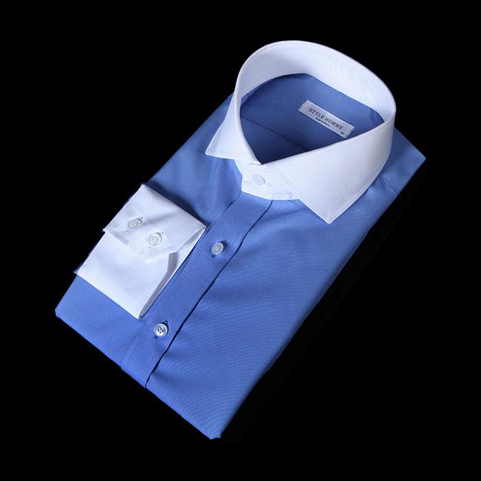76154 No.68 프리미엄 클레릭 드레스 셔츠 (Blue)