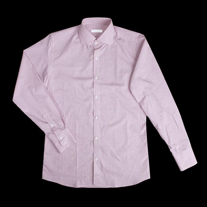 80878 No.11-a 프리미엄 체크 디테일 셔츠 (Pink)