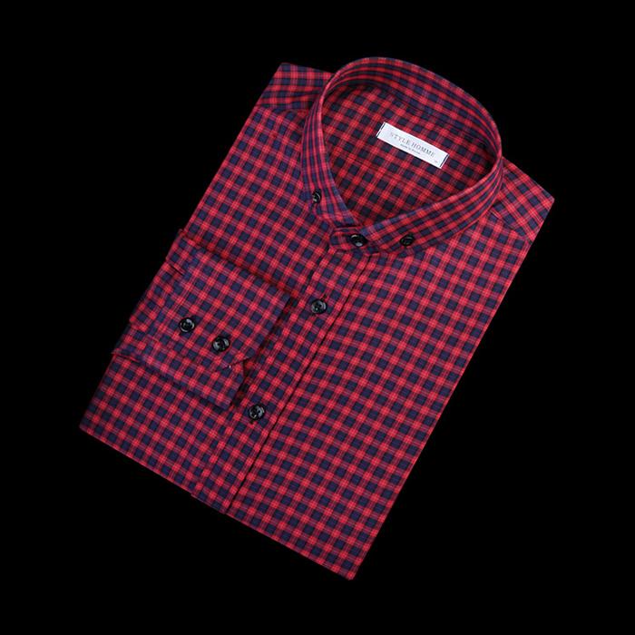 84284 No.21-a 프리미엄 체크 셔츠 (Red)