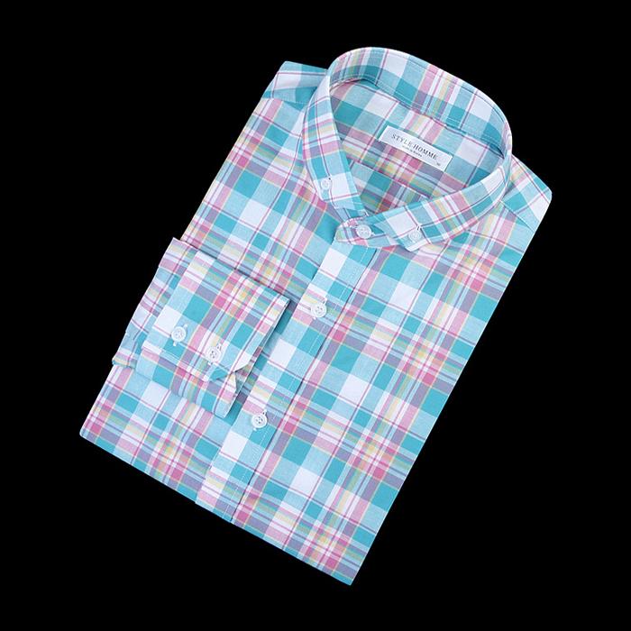 84287 No.20-a 프리미엄 체크 셔츠 (Mint)