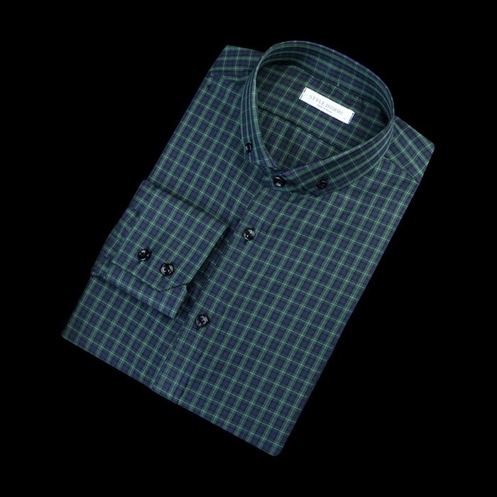 84289 No.21-a 프리미엄 체크 셔츠 (Green)