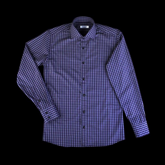 86386 No.42-a 프리미엄 깅엄 체크 셔츠 (Purple)