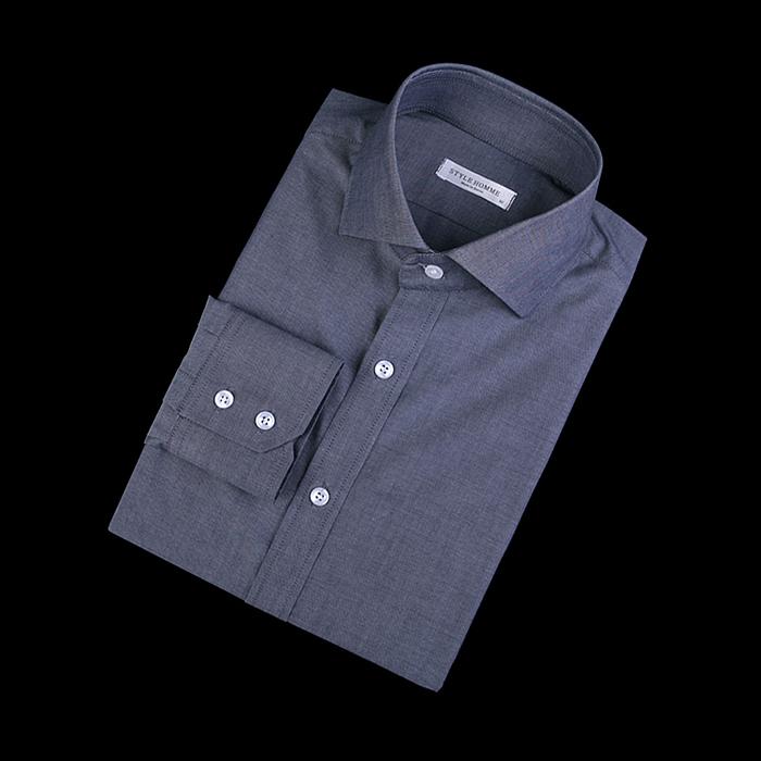 87397 No.52-a 프리미엄 솔리드 셔츠 (Navy)