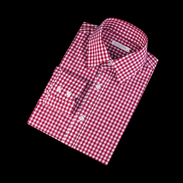 87401 No.55-a 깅엄체크 셔츠 (Red)
