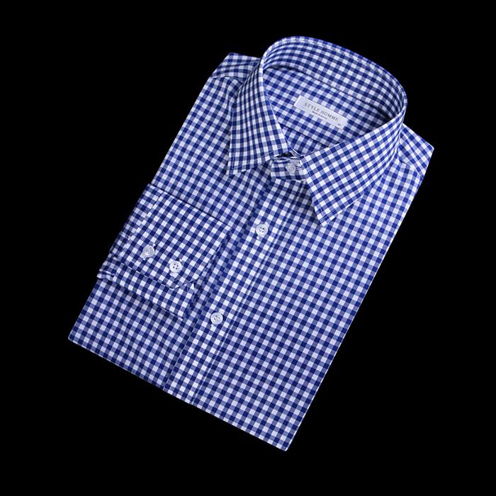 87403 No.55-a 깅엄체크 셔츠 (Blue)