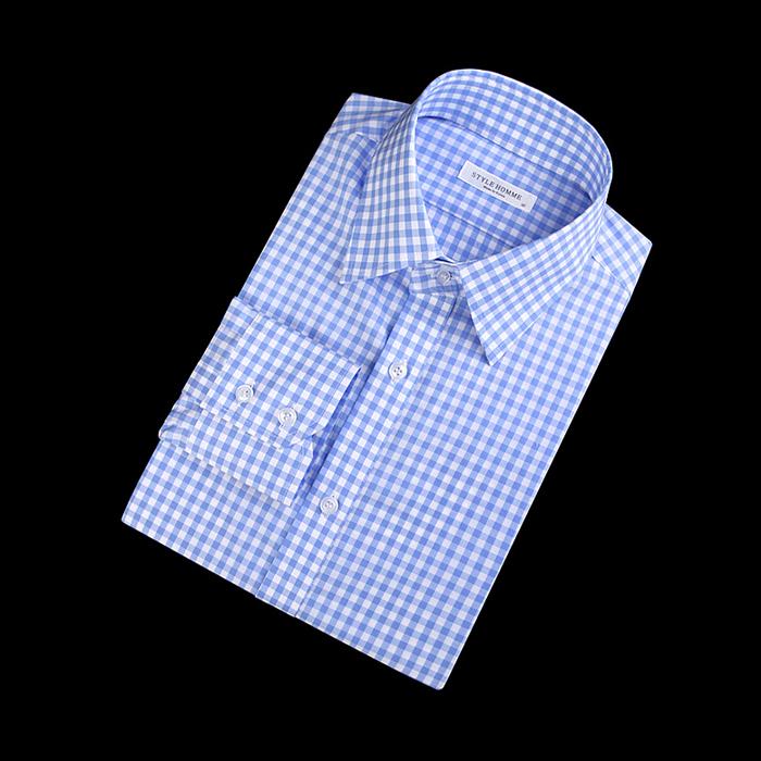 87404 No.55-a 깅엄체크 셔츠 (Sky Blue)