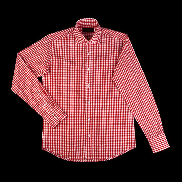 89040 TOM 깅엄체크 프리미엄 셔츠 (Red)
