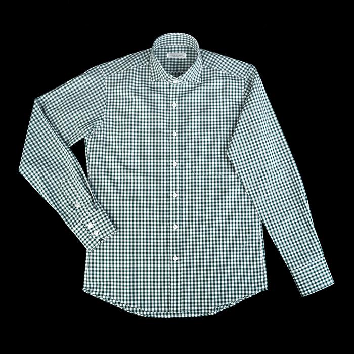 89664 TOM 깅엄체크 프리미엄 셔츠 (Green)