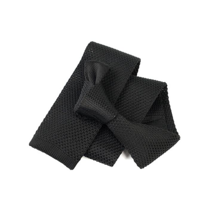 91971 베이직 6cm 니트 넥타이 (Black)