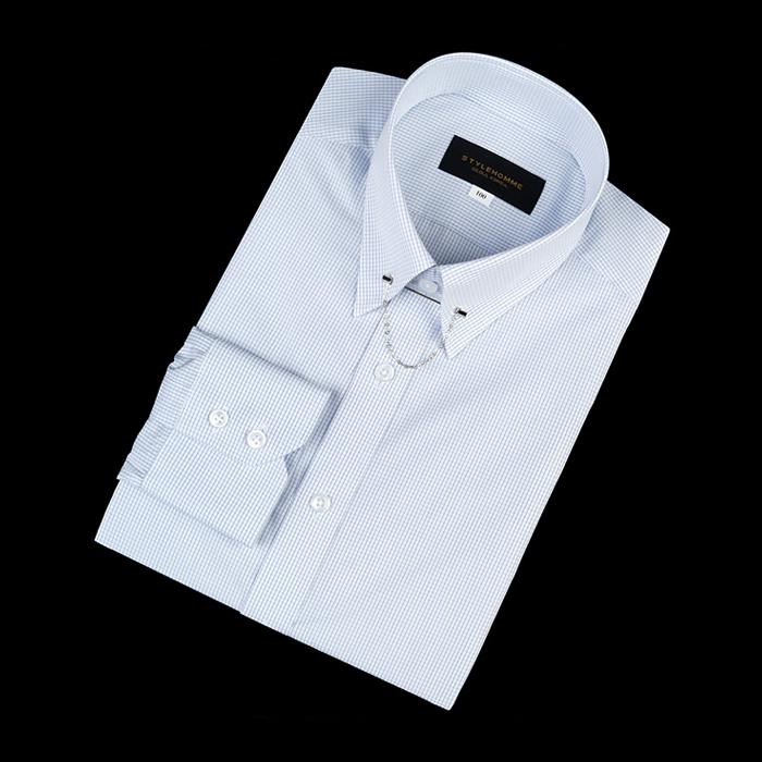 92155 No.02-B 체크 칼라바 전용 셔츠 (Blue)