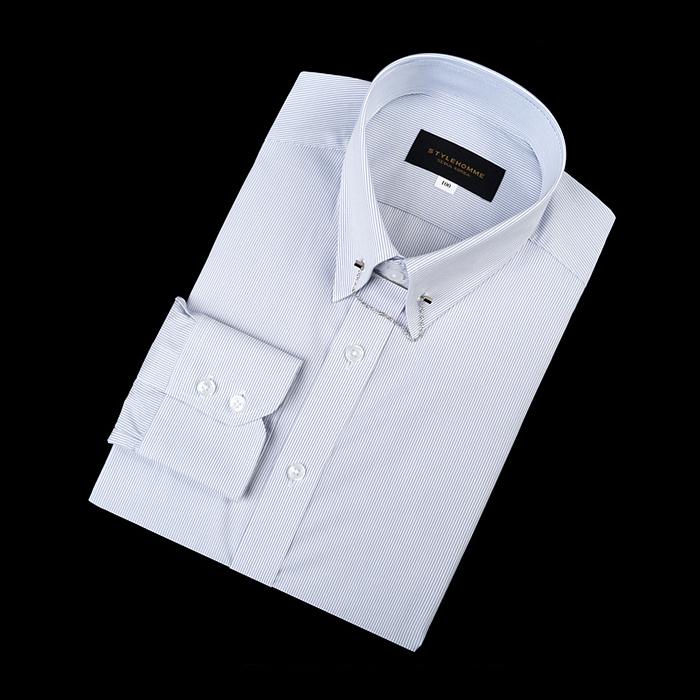 92170 No.05-B 스트라이프 칼라바 전용 셔츠 (Navy)