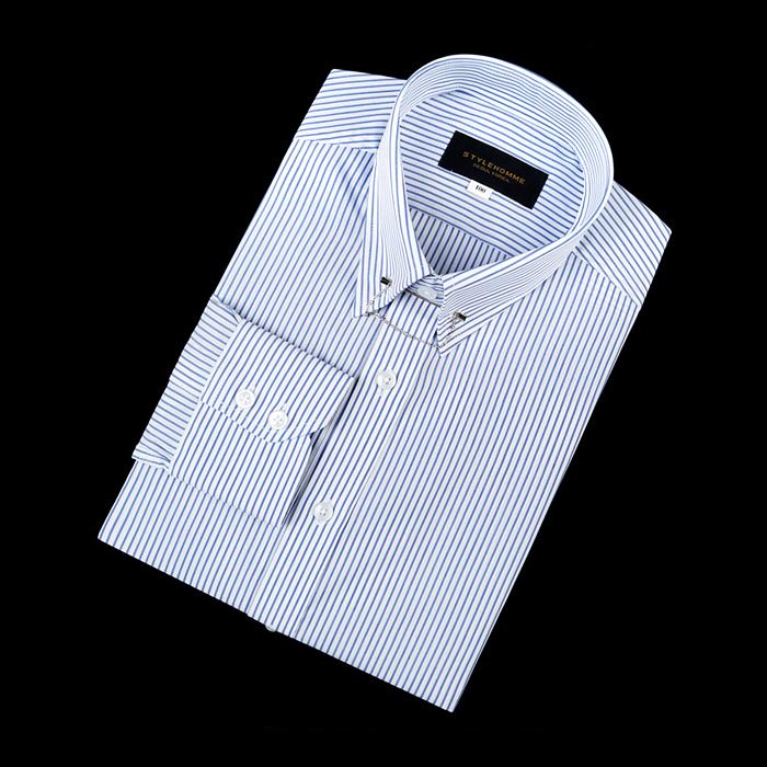 92178 No.08-B 스트라이프 칼라바 전용 셔츠 (Blue)