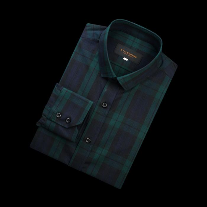 87357 VA 타탄체크 셔츠 (Green)