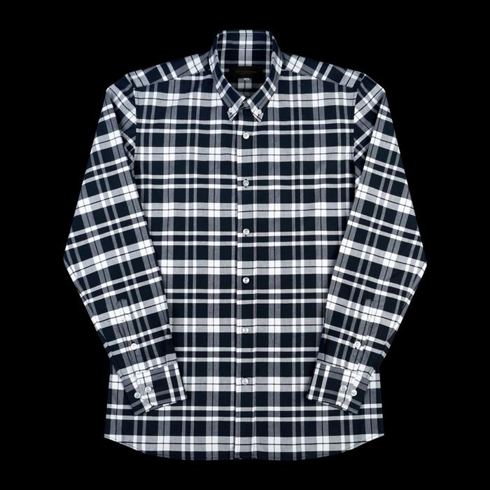 96663 TH 프리미엄 버킹엄 체크 셔츠 (Navy)